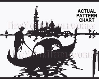 Gondola clipart black and white Silhouettes Venice Cross Cross San