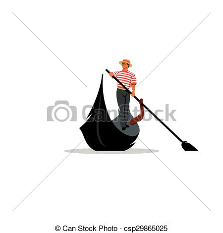 Gondola clipart canal Illustration Venice Vector sign gondola