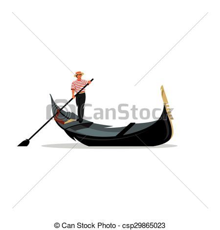 Gondola clipart gondolier A white Illustration of logo
