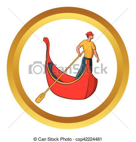 Gondola clipart gondolier Of Venice gondolier vector and