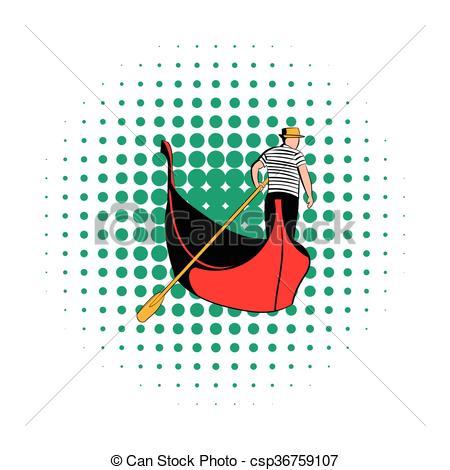 Gondola clipart gondolier A white Clipart of icon