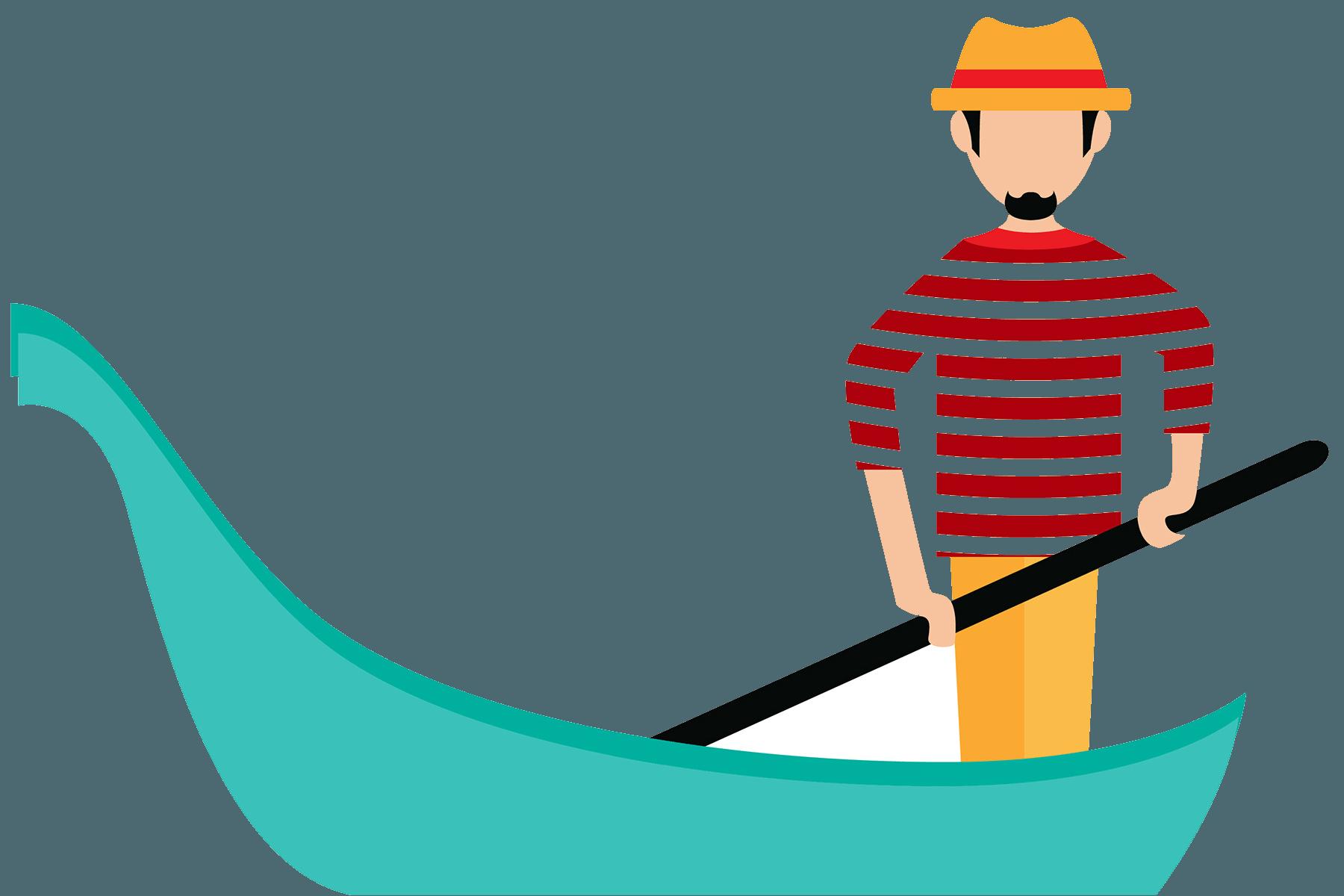 Gondola clipart italian person Italian Easy levels Master Italy