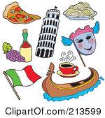 Gondola clipart italian person Free Clipart Italy Art Art