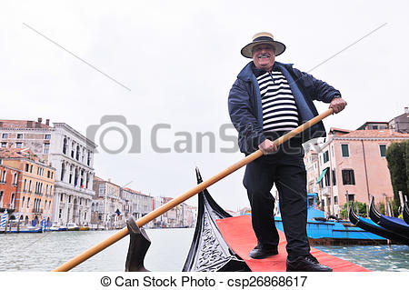 Gondola clipart italian person Stock grand italy italy driver