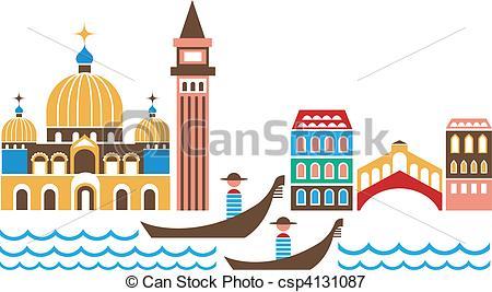 Gondola clipart venice  Illustration of Vector Search