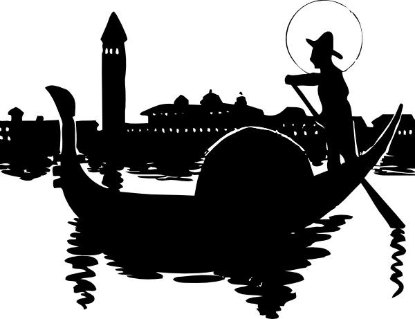 Gondola clipart venice Download Free for art Vector