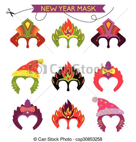 Mask clipart christmas Mask monkey monkey mask Set