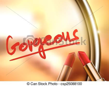 Gorgeus clipart cartoon woman Word gorgeous Clipart gorgeous Vector