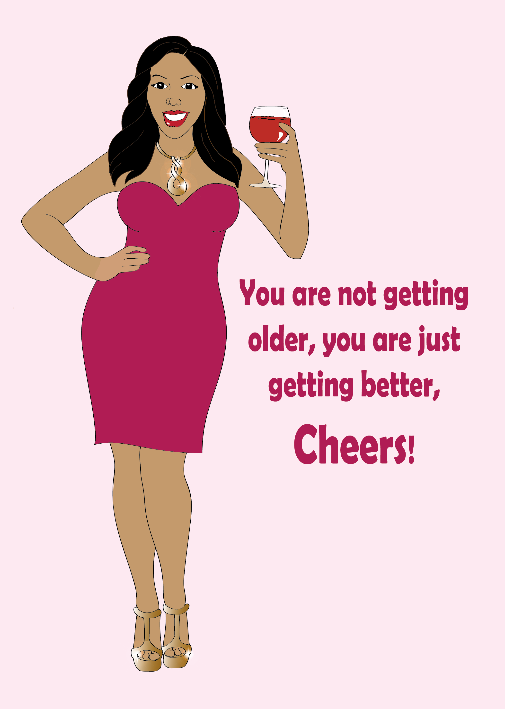 Women clipart happy birthday Birthday Black Greeting tub dress
