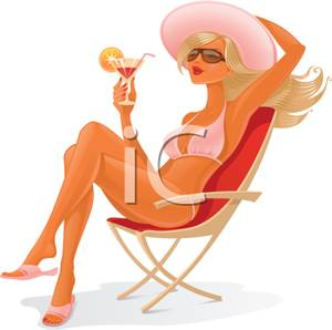 Gorgeus clipart cartoon woman Clipart Free Sitting a Royalty