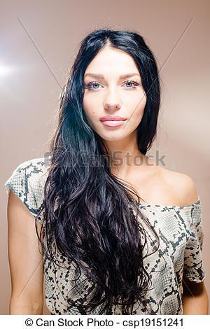 Gorgeus clipart dark hair Black Photo long with