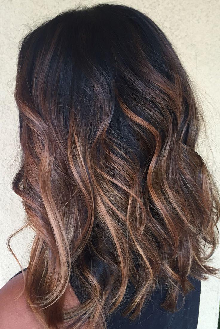 Gorgeus clipart dark hair Colors Balayage hair Black Caramel