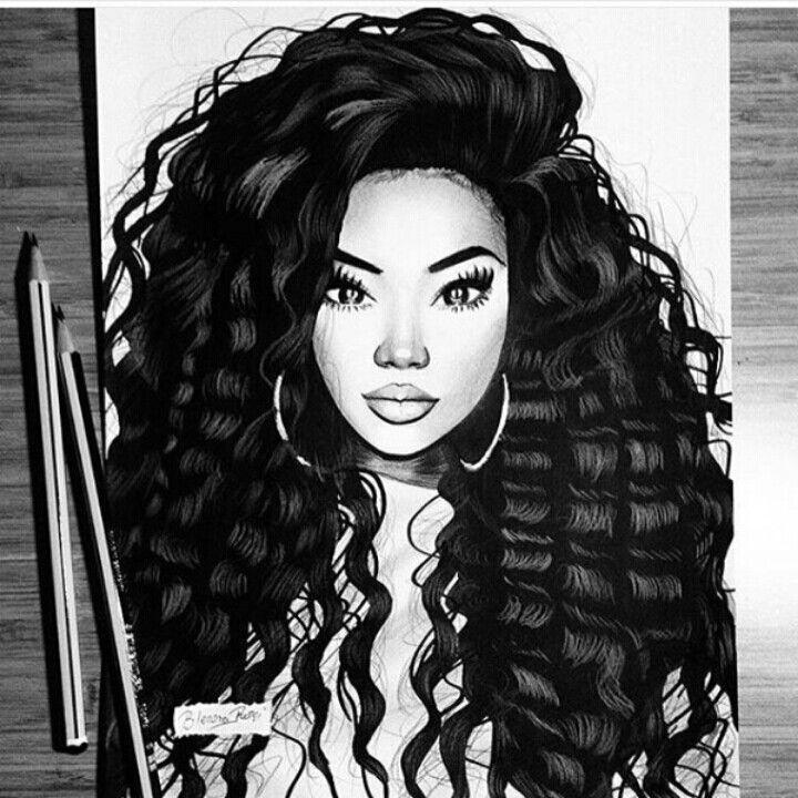 Gorgeus clipart dark hair Fashion/Art this Women Black Pinterest