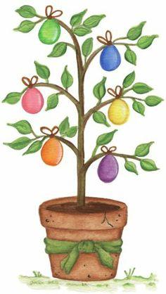 Gorgeus clipart easter egg tree Religious Art Easter Soma Page