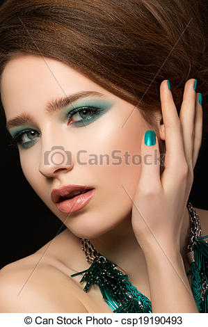 Gorgeus clipart eye makeup Stock young Portrait with gorgeous