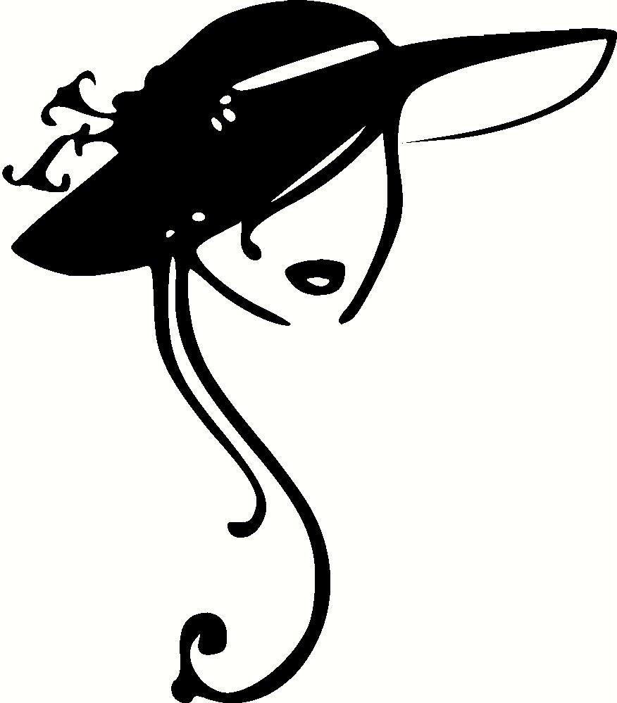 Drawn hat womens hat Clipart Vintage Vintage Hats Ladies
