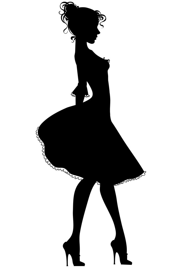 Gown clipart 3 woman On Pin Transparent ClipArt silhouette