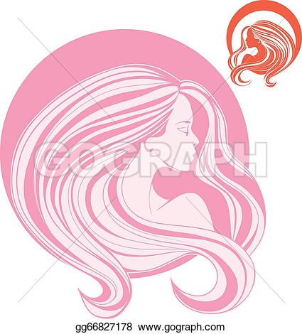 Gorgeus clipart hair and beauty Woman's in Vector long head