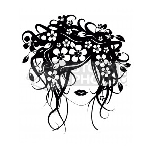 Hair clipart cosmetology Girl Cosmetology Clip flowers with