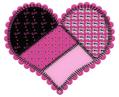 Patchwork clipart pink Find on on 820 Pin