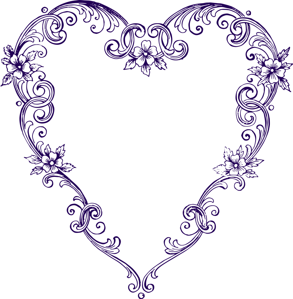 Heart-shaped clipart fancy  Fancy Vintage and Clip