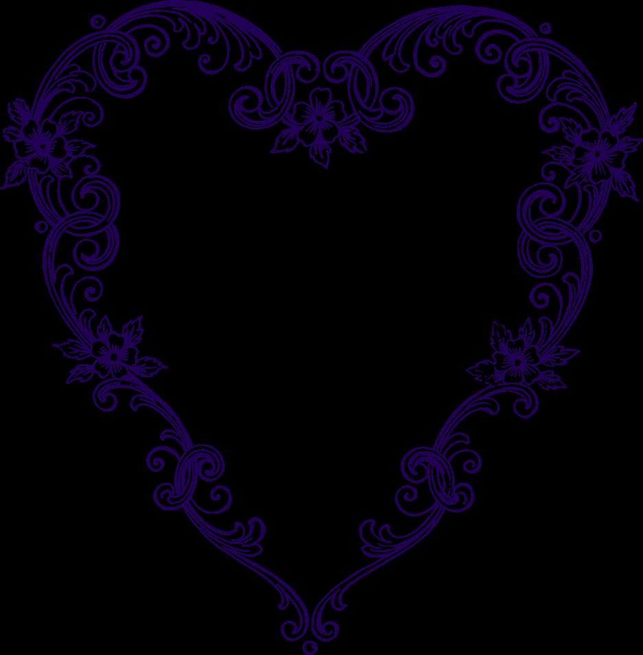 Heart-shaped clipart fancy #3