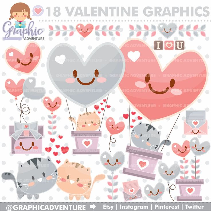 KITTENS clipart valentine's day Clipart Cat Graphics Clipart Love
