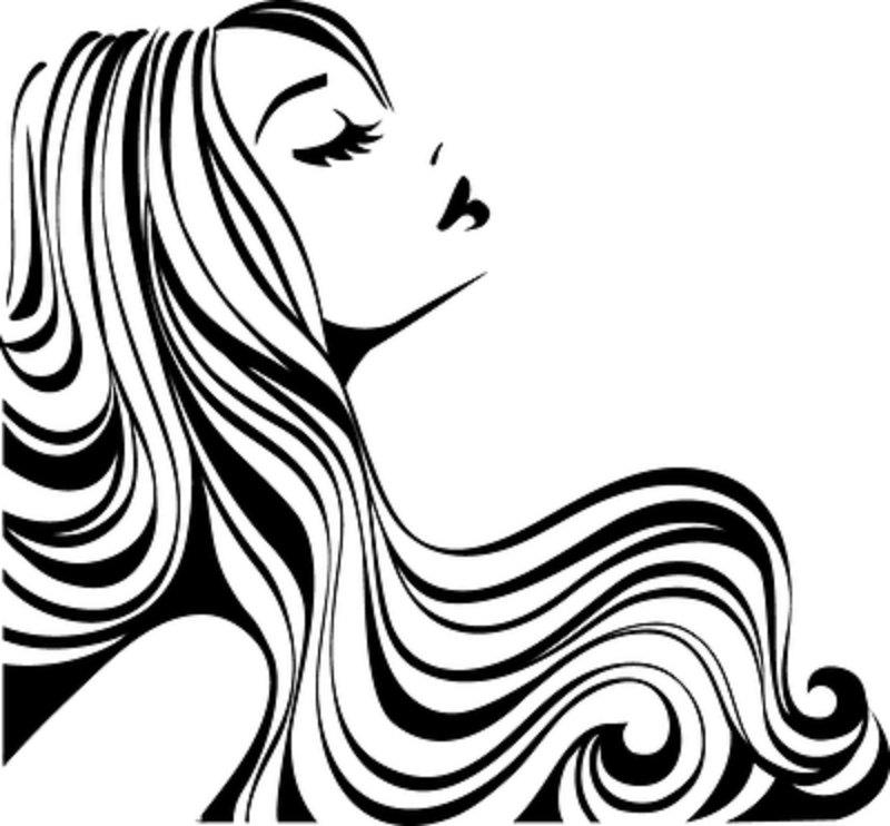 Hair clipart vintage salon Hair DIY Google cape diy