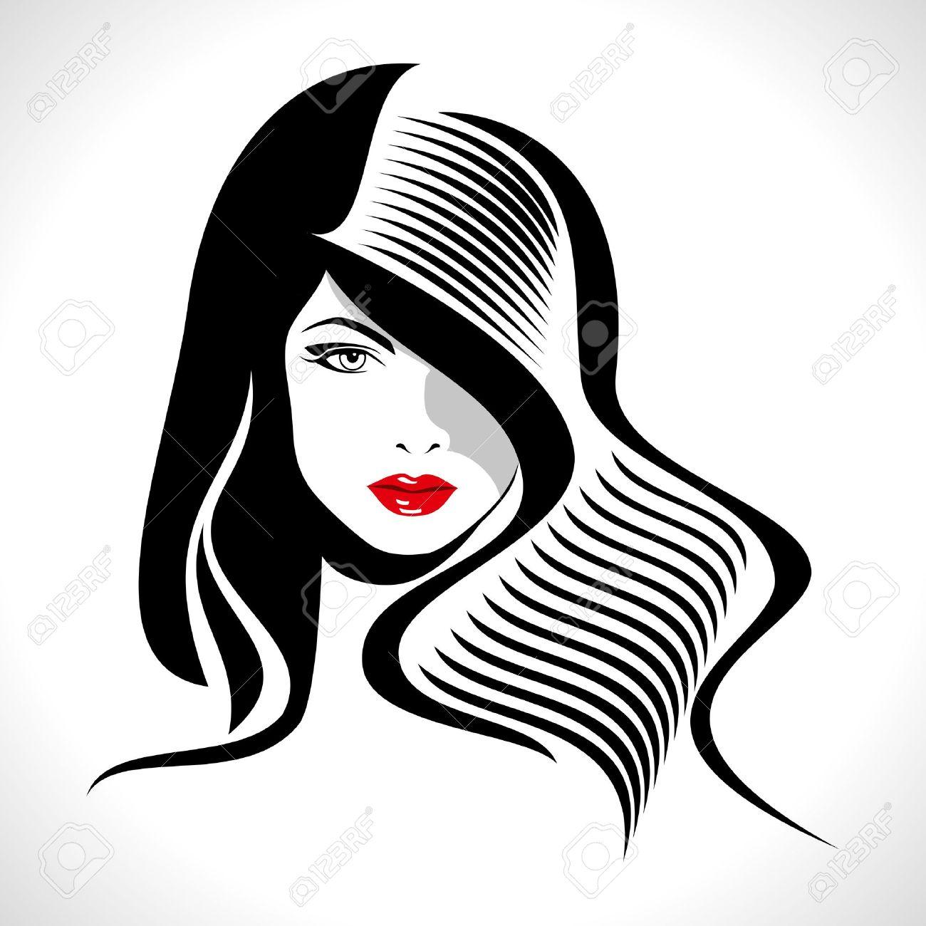 Hair clipart women's hair Vector 18173293  Panda Clipart