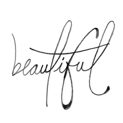 Gorgeus clipart the word The word beautiful #cursive cursive