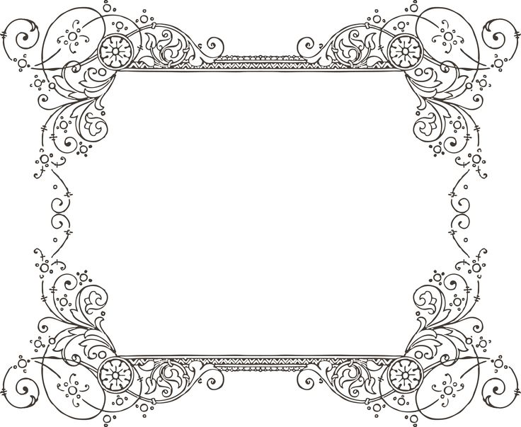 Gorgeus clipart the word On Pinterest Borders & More