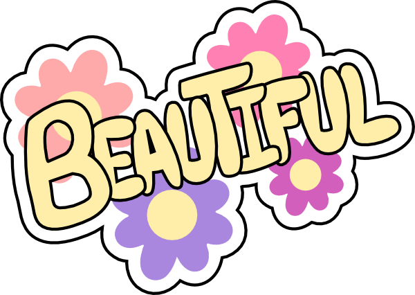 Gorgeus clipart the word It to beautiful best art