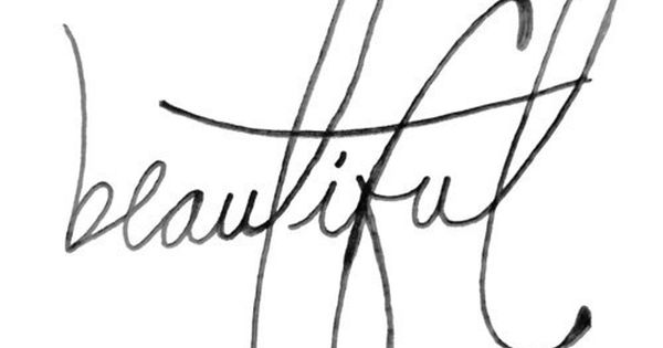 Gorgeus clipart the word Word beautiful RED cursive Pinterest