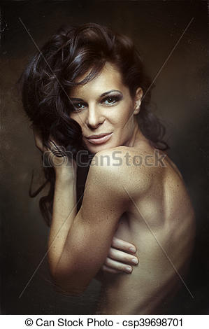 Gorgeus clipart wild hair Woman Hair of Wild Stock