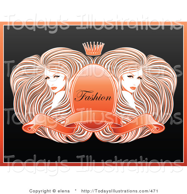 Gorgeus clipart women's hair Gorgeous of  with Around