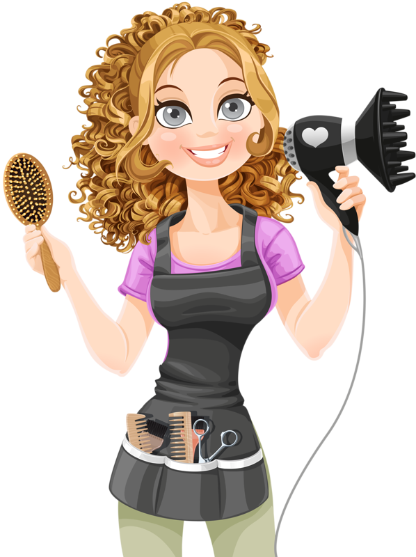 Gorgeus clipart women's hair Illustration personne personnages profese art
