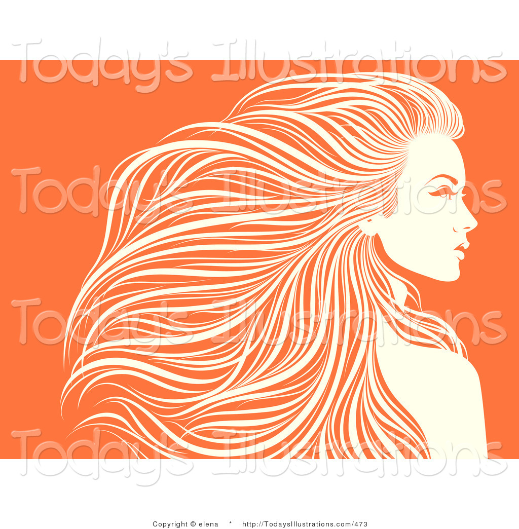 Gorgeus clipart women's hair White Stock in Hair and