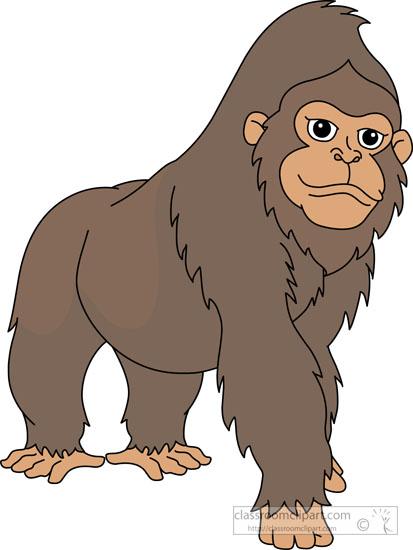 Gorilla clipart Clipart large Graphics Size: gorilla