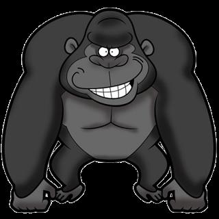 Gorilla clipart Clip Funny Art Gorilla Monkey