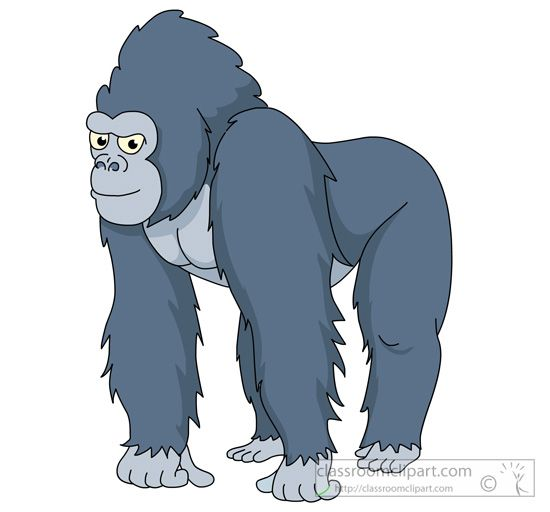 Gorilla clipart All gorilla fours on Gorilla