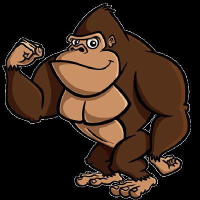 Handprint clipart gorilla Clip Art Cartoon Prints Cartoon