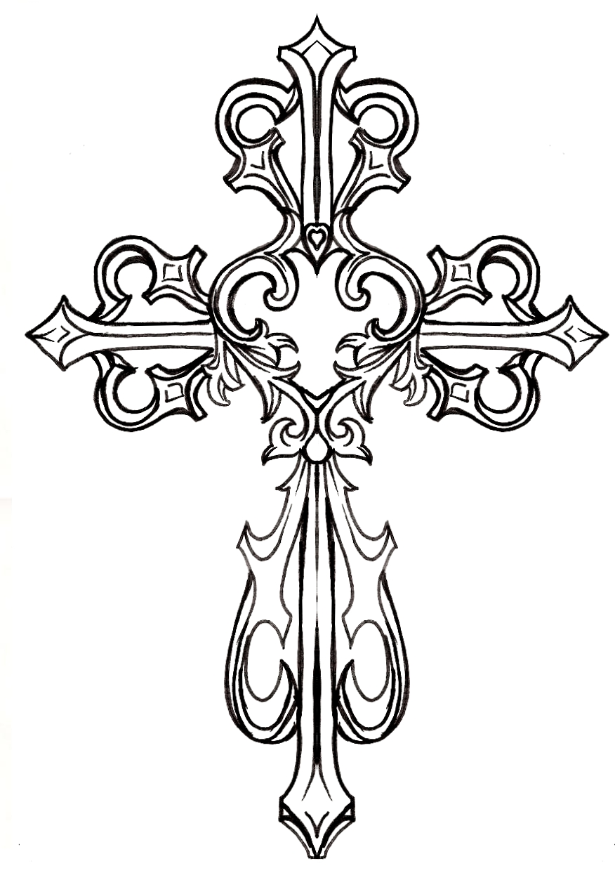 Drawn hearts crosses Heart by by on deviantART