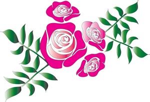 Pink Flower clipart light pink rose Pink Clip Images Art Rose