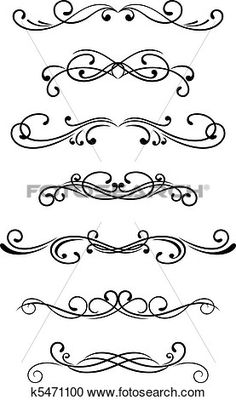 Amd clipart nose  Set ornament elements Graphic