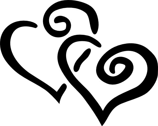 Hearts clipart joined About Clip wedding art Black