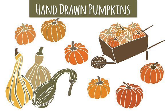 Gourd clipart On Gourds Creative Market Art