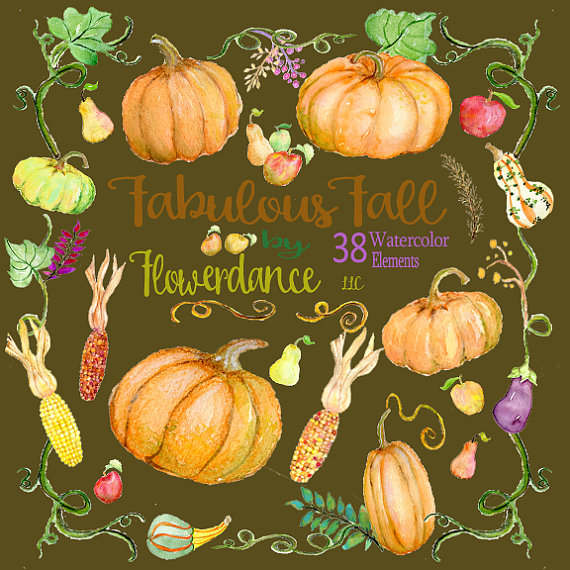 Gourd clipart autumn pumpkin Pumpkin digital fall autumn clipart