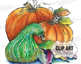 Gourd clipart autumn pumpkin 30% SALE Scrapbooking pumpkin Clip