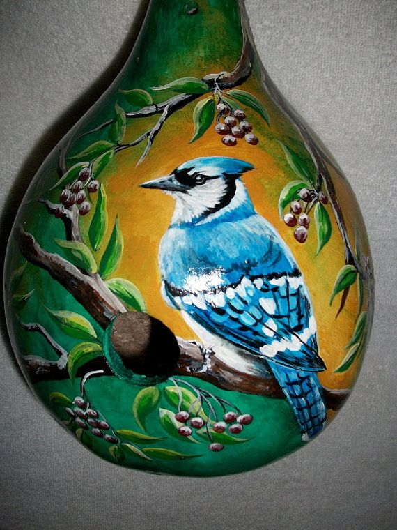 Gourd clipart blue apple Jay 15 Pinterest painting Birdhouse