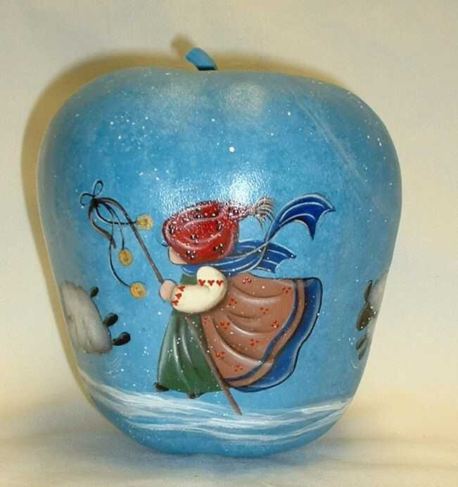 Gourd clipart blue apple Apple Hand Girl Shepherd on
